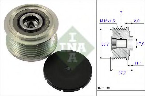 Механизм свободного хода генератора INA арт. 535012810