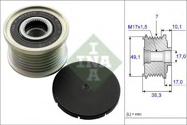 Механизм свободного хода генератора INA арт. 535015310