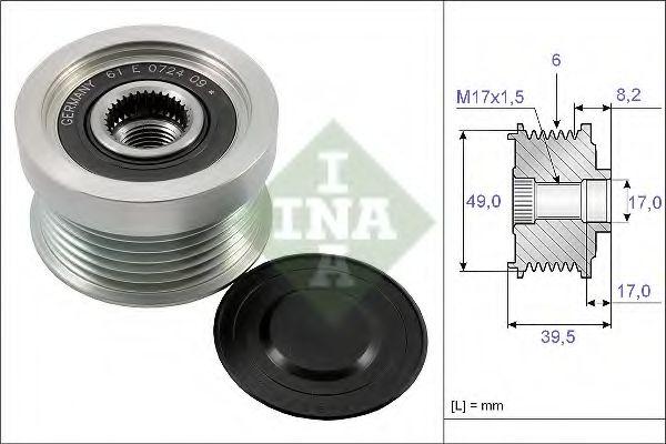 Механизм свободного хода генератора INA арт. 535015810