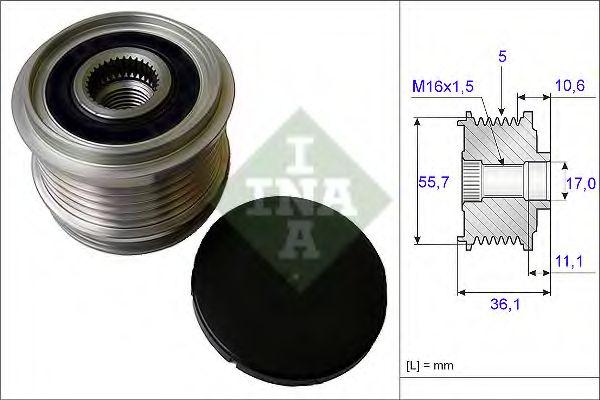 Механизм свободного хода генератора INA арт. 535016110