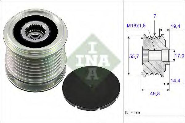 Механизм свободного хода генератора INA арт. 535016510