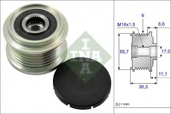 Механизм свободного хода генератора INA арт. 535016010