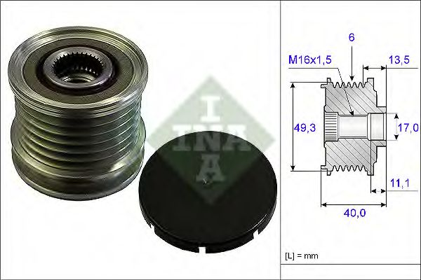 Муфта генератора INA 535016610