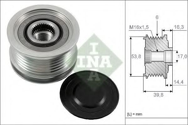 Механизм свободного хода генератора INA арт. 535017010