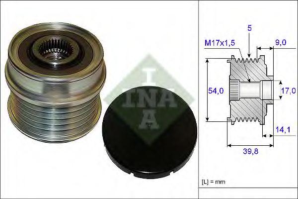 Механизм свободного хода генератора INA арт. 535017110