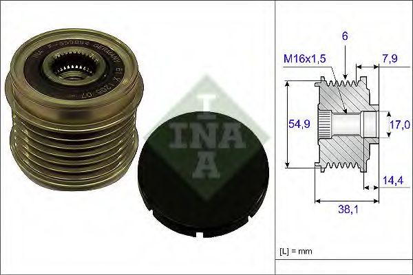 Механизм свободного хода генератора INA арт. 535017610