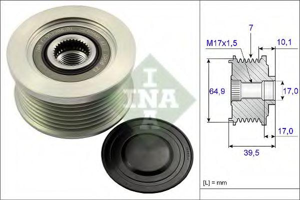 Механизм свободного хода генератора INA арт. 535017710