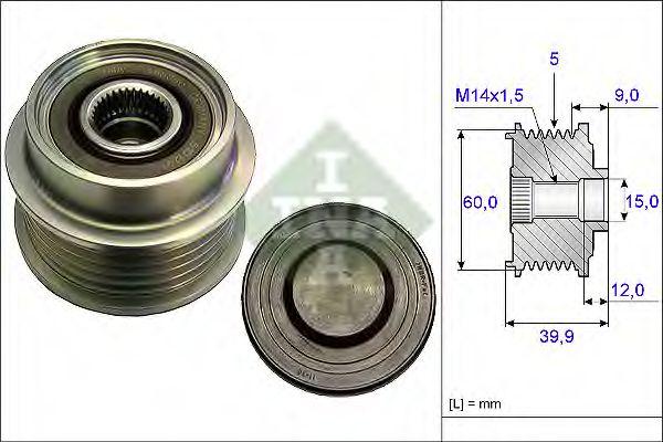 Механизм свободного хода генератора INA арт. 535018010