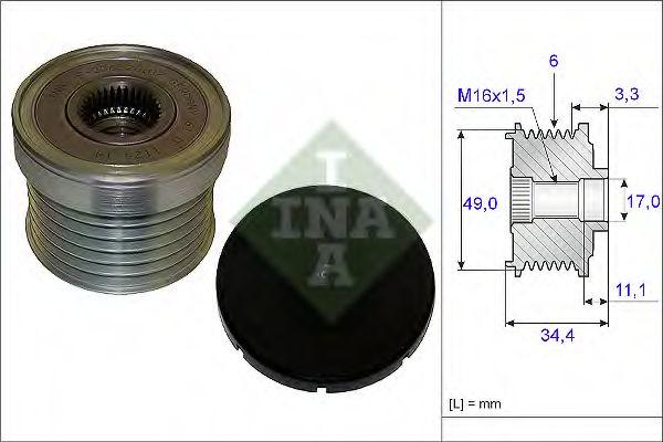 Механизм свободного хода генератора INA арт. 535018310