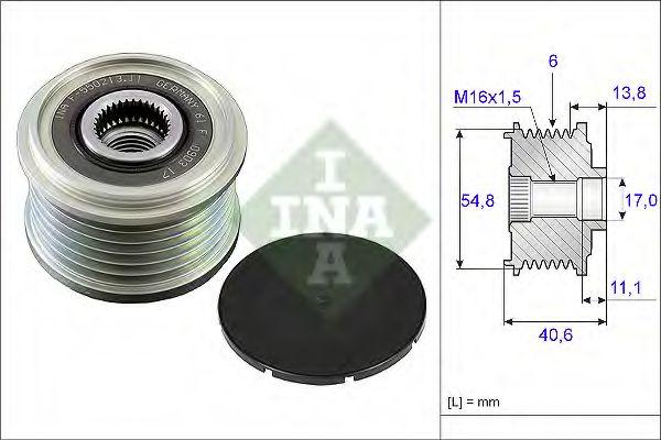 Механизм свободного хода генератора INA арт. 535010210