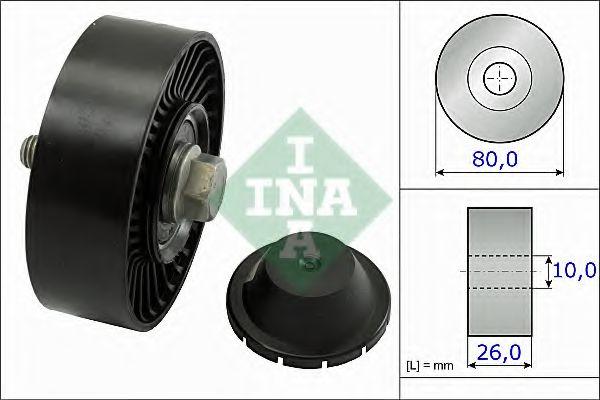 Паразитный / ведущий ролик, поликлиновой ремень INA арт. 532051210