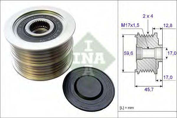 Механизм свободного хода генератора INA арт. 535015010