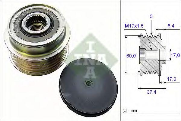Механизм свободного хода генератора INA арт. 535015210