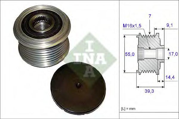Механизм свободного хода генератора INA арт. 535014210