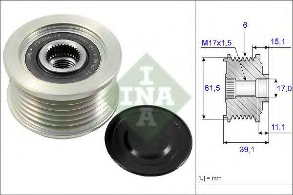 Механизм свободного хода генератора INA арт. 535014410
