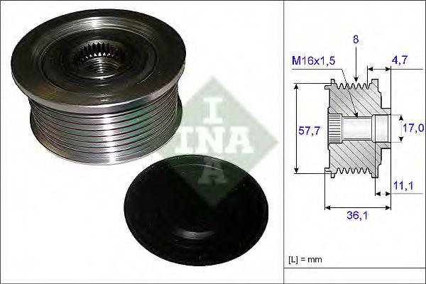 Механизм свободного хода генератора INA арт. 535009910