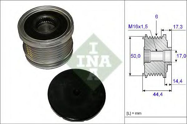 Механизм свободного хода генератора INA арт. 535014810