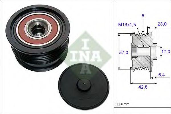 Механизм свободного хода генератора INA арт. 535019010