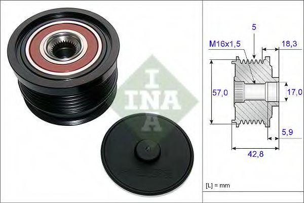 Механизм свободного хода генератора INA арт. 535019110