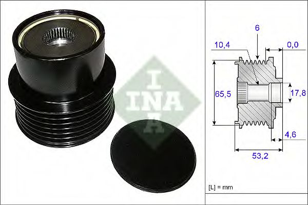 Механизм свободного хода генератора INA арт. 535019510