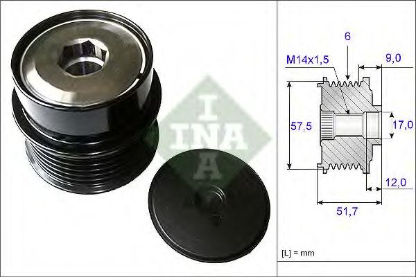 Механизм свободного хода генератора INA арт. 535019710