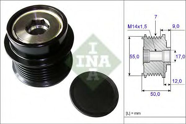 Муфта генератора INA 535019810