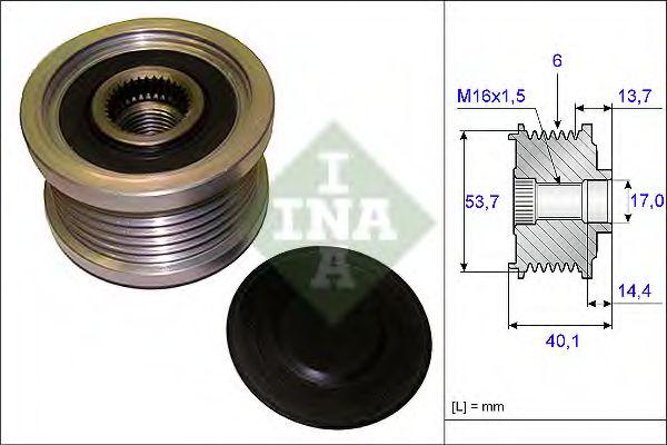 Механизм свободного хода генератора INA арт. 535020210