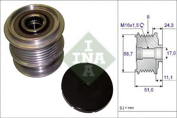 Механизм свободного хода генератора INA арт. 535020010