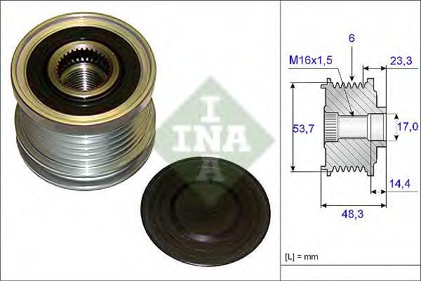 Механизм свободного хода генератора INA арт. 535020410