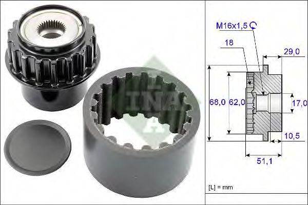Комплект эластичной муфты сцепления INA арт. 535020610