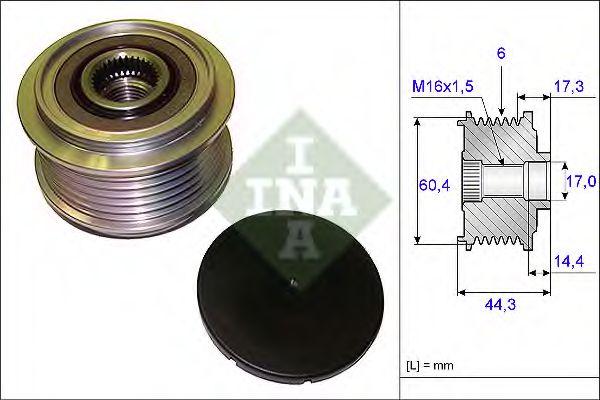 Механизм свободного хода генератора INA арт. 535020710
