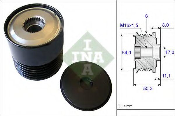 Механизм свободного хода генератора INA арт. 535021210