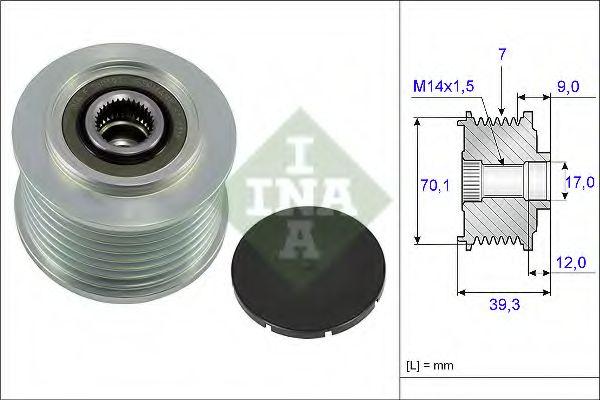 Механизм свободного хода генератора INA арт. 535021410