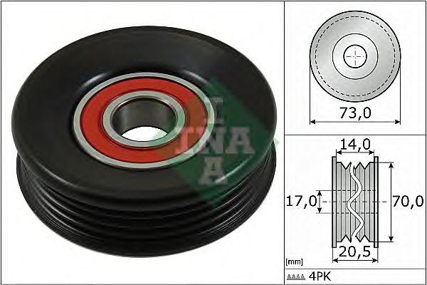 Натяжной ролик, поликлиновой  ремень INA арт. 531085310
