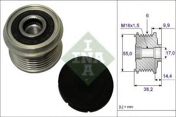 Муфта генератора INA 535021610