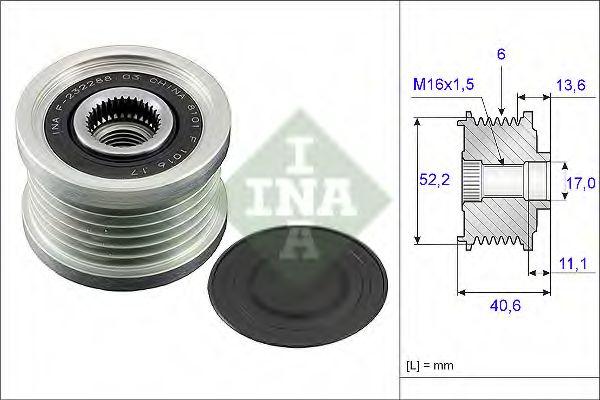 Механизм свободного хода генератора INA арт. 535004410