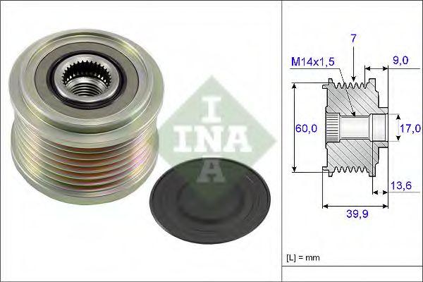 Механизм свободного хода генератора INA арт. 535021510
