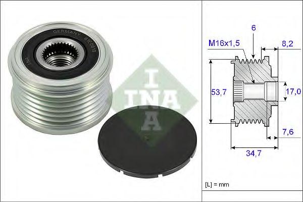 Механизм свободного хода генератора INA арт. 535022410