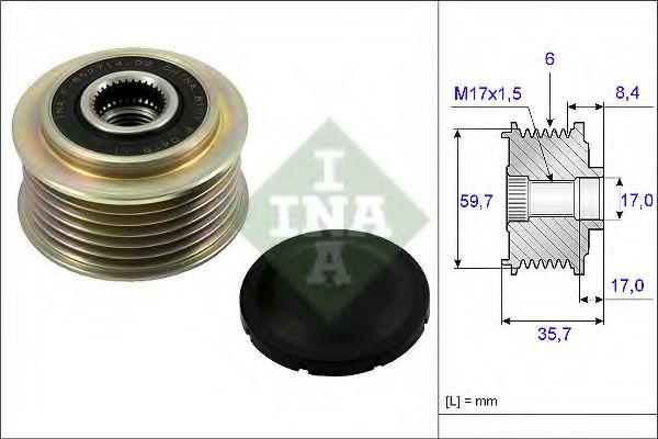 Механизм свободного хода генератора INA арт. 535022510