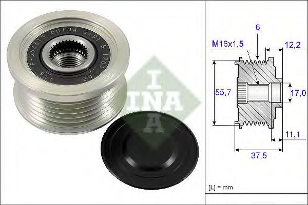 Механизм свободного хода генератора INA арт. 535022610