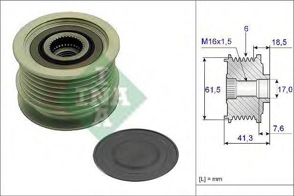 Механизм свободного хода генератора INA арт. 535023410