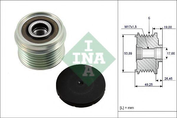 Механизм свободного хода генератора INA арт. 535023310