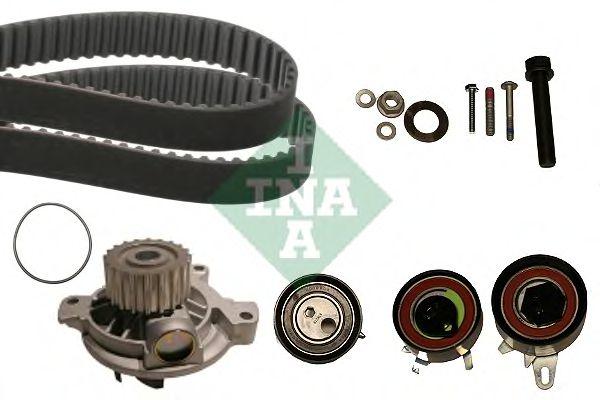 Комплект (ремінь+ролик+помпа) INA 530048430