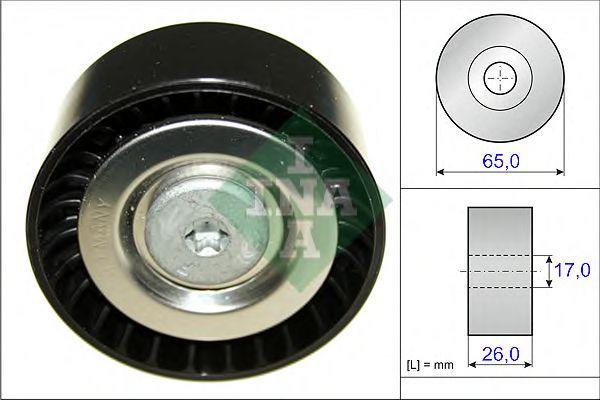 Паразитный / ведущий ролик, поликлиновой ремень INA арт. 532057110