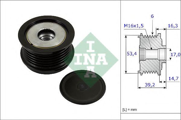 Механизм свободного хода генератора INA арт. 535023610