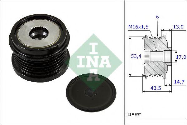 Механизм свободного хода генератора INA арт. 535023710