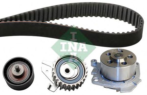 Водяной насос + комплект зубчатого ремня INA арт.