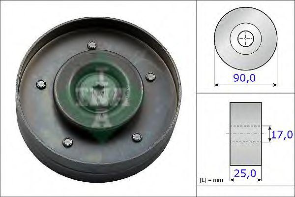 Паразитный / ведущий ролик, поликлиновой ремень INA арт. 532069410
