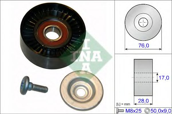 Паразитный / ведущий ролик, поликлиновой ремень INA арт. 532064810