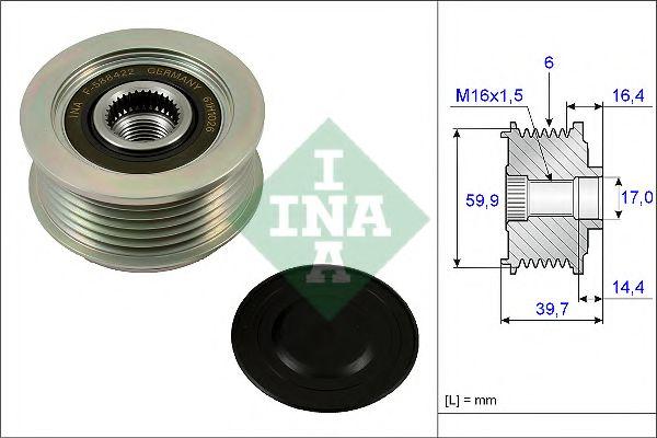 Муфта генератора INA 535024110